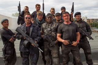 men, actors, the film, The expendables 3, weapons, fighters