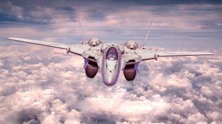 облака, Истребитель, авиация, небо