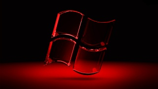 windows, Windows, Red, black background