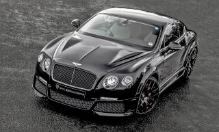 Bentley, Kontinentální, GT, ONYX, Bentley, tuning, černá, šedé pozadí