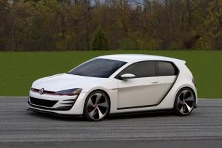 volkswagen, Volkswagen, bílá, disky, příroda, trávník, stromy, trasa