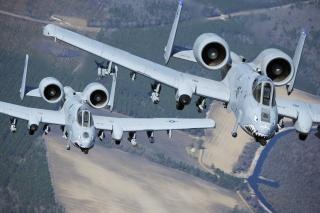А-10, Thunderbolt II, ввс, США, штурмовик, Истребитель, разведчик, земля, поля
