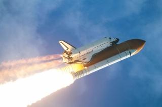 шаттл, запуск, огонь, полёт, США, мощь, небо, НАСА