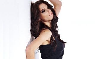 girl, adriana Lima, model, view, white, background