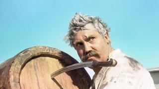 Pavel Luspekaev Vereshchagin, custom, frame, barrel, knife, view, White sun of the desert, the film, movies, FOR THE POWER OFFENSIVELY
