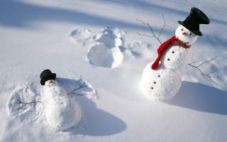 сніговики, сніг, сніг ангелів, снігові ангели, scarfs, сніговики, зима, шарфи, зима, сніг