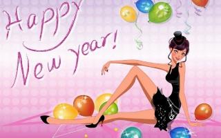 Новий рік, дівчина, подарунки, свято
