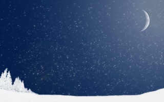 Новий рік, Різдво, сніг, ніч