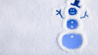 Новий рік, сніговик, сніг