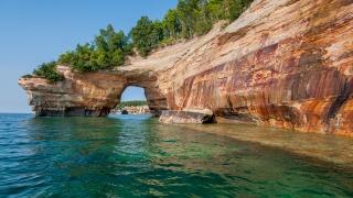 příroda, hory, skály, jeskyně, oceán, záliv, krásně