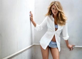 blake lively, Blake Lively, girl, actress, blonde, shirt
