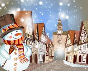 Різдво, З Різдвом Христовим, сніг, зима, будинок, дерева, гори, Різдво, Новий рік, снігів