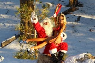 Nový rok, santa claus