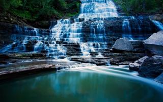 hamilton, waterfall, Albion falls, cascade, ontario
