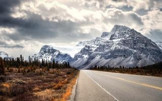 road, mountains, landscape