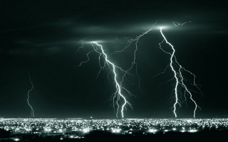 photo, night, element, lightning
