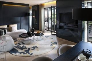 Design, černá, Styl, koupelna, interiér, béžová