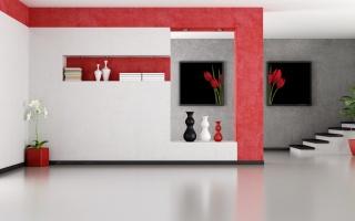 schodiště, Design, interiér, váza