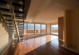 Design, penthouse, Styl, dům, interiér, město