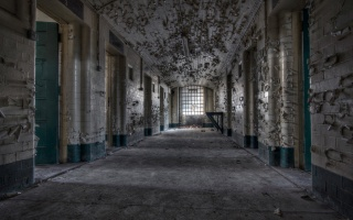 в'язниця, інтер'єр, коридор