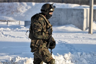 fighter, The Russian Federation, BB, Commando, AK, the Ministry of internal Affairs, soldiers, snow