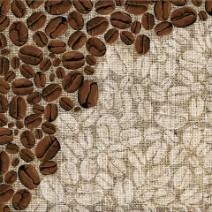 coffee, grain, Mat, fabric, burlap