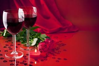 květiny, červené, vína, růže, svíčky