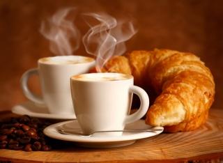 кава, білі, піна, чашки, пар, напій, зерна, еспресо