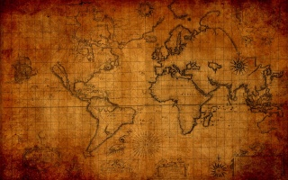 stará, mapa, svět