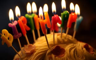 cake, holiday, candle