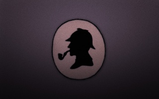 sherlock holmes, Trubka, Sherlock holmes, Kruh, hlava, čepice