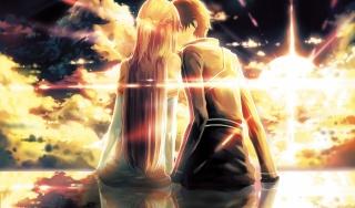 меч мистецтва онлайн, хлопець, дівчина, кирито, юуки асуна, ko2915277ok, арт