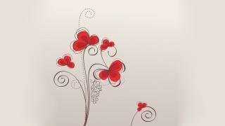 візерунки, текстура, Червоний, квіти, Шпалери, фон