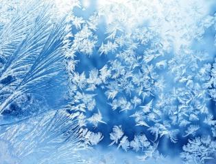 zima, mrazivý vzory, sklo, jinovatka