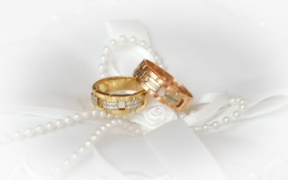 wedding, Engagement rings, white, beads