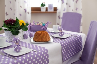 cupcake, festive table, tablecloth, EGGS, Cake, flowers