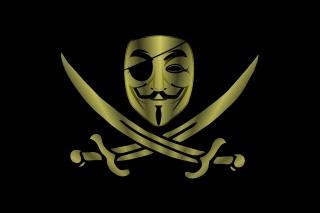 pirát, meče, minimalismus, maska, анонимус, Anonymní, pozadí