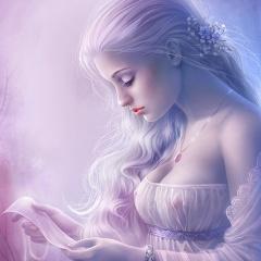 holka, prsa, šaty, dopis, smutek, touha, vlasy