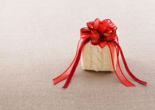 luk, páska, dárek, tkanina, Červená, вязаная, krabička