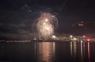 noc, pozdrav, 2013, pramínky, řeka, hora, Nový rok