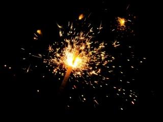 oheň, Bengálský, pozadí, jiskra, černá, Plameny