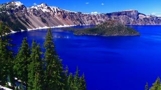 jezero, hory, oregon