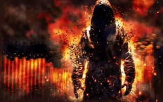 Полум'я, демон, дим, Привид, вогонь, балахон, капюшон