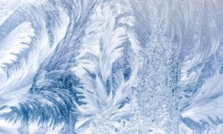 sklo, mráz, zima, vzor, jinovatka