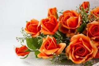 Оранжевые, цветы, лепестки, искусственные, розы