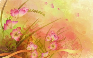 flowers, flower, petals, Pink, beautiful, yellow