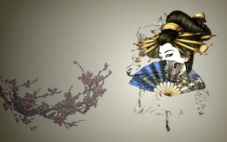 Sakura, fan, Asia