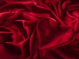 satin, heart, fabric, red, texture, silk, folds
