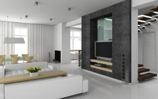 колонки, телевізор, диван, кінозал, кімната