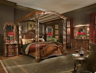 ліжко, інтер'єр, подушки, кімната, стеля, лампа